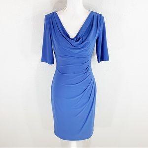 Ralph Lauren blue periwinkle cowlneck jersey dress